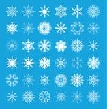 Snowflake collection. vector illustration. Snowflake set collection. vector illustration royalty free illustration