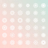 Snowflake Collection Stock Photo