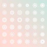 Snowflake Collection Stock Photo