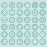 Snowflake Collection Stock Photos