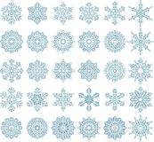 Snowflake collections for you design Stock Photography