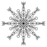 Snowflake coloring book Stock Photography