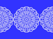 snowflake configuration de Noël sans joint Ornement circulaire, dentelle décorative Illustration de vecteur illustration libre de droits