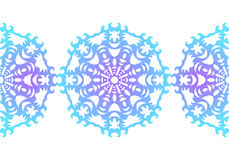 snowflake configuration de Noël sans joint Ornement circulaire Dentelle décorative Illustration de vecteur illustration stock
