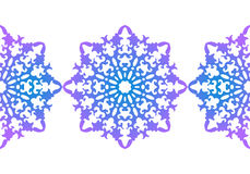 snowflake configuration de Noël sans joint Ornement circulaire, dentelle décorative Illustration de vecteur illustration de vecteur