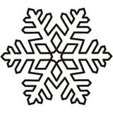 Snowflake, contour Stock Images