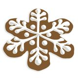 Snowflake cookie Stock Photography