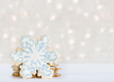 Snowflake Cookie Background Stock Images