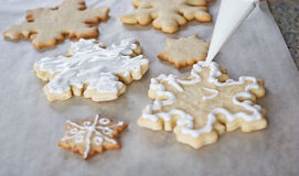 Snowflake cookie background Royalty Free Stock Photography