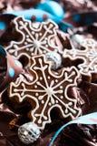 Snowflake Cookies Royalty Free Stock Photos