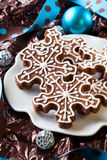 Snowflake Cookies Stock Photo