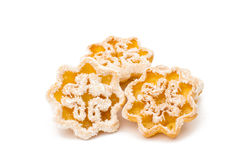 Snowflake cookies Royalty Free Stock Images