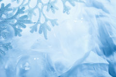 Snowflake cool ice blue  macro background Royalty Free Stock Photos