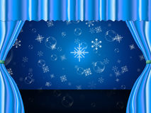 Snowflake Copyspace Indicates Ice Crystal And Celebrate Stock Photo