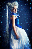 Snowflake costume Royalty Free Stock Image