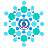 Snowflake crazy vector illustration