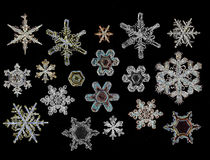 Snowflake crystal Stock Photos