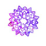 Snowflake, cut out shape with purple blue splashes color palette. Snowflake, cut out shape with blue splashes color palette, hand painted watercolor illustration royalty free illustration