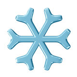 Snowflake. 3d render with HDR Royalty Free Stock Photos