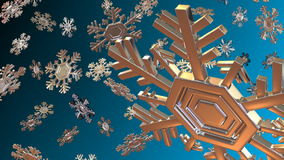 Snowflake 3d stock video footage