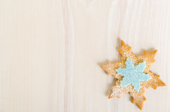 Snowflake decorated christmas cookie Royalty Free Stock Photos