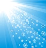 Snowflake Decoration. Christmas and New Year's background Stock Images