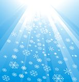 Snowflake Decoration. Christmas and New Year's background Royalty Free Stock Image