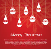 Snowflake decoration on Christmas card Royalty Free Stock Images