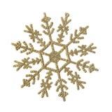 Snowflake decoration. Snowflake christmas decoration isolated on white Royalty Free Stock Images