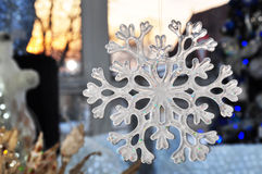 Snowflake. Decoration for the Christmas tree in the shape of snowflakes Royalty Free Stock Image