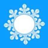 Snowflake decoration emblem winter Stock Photo