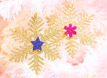 Snowflake decoration shapes. Stock Photography