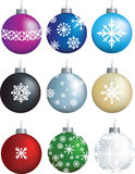 Snowflake decorations Stock Photography