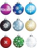 Snowflake decorations Stock Photography