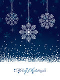 Snowflake decorations Stock Image
