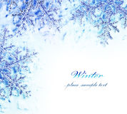 Snowflake decorative border stock photos