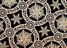 Snowflake design. Black and white snowflake pattern Stock Photo
