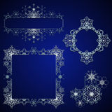Snowflake design elements Stock Image