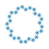 Snowflake design for frame background. Vector illustration. Winter pattern. Fashion Graphic . White and blue colors. Template for Stock Images