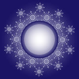 Snowflake design. Frame background. Vector illustration. Winter vector pattern. Fashion Graphic Design. Beauty concept. White and Royalty Free Stock Photos