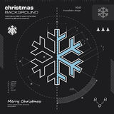 Snowflake design vector background Royalty Free Stock Photo