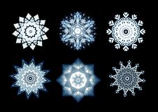 Snowflake designs Royalty Free Stock Photography