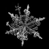 Snowflake detail. Very close-up detail of snowflake Royalty Free Stock Photography