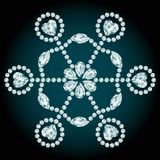 Snowflake diamond composition Royalty Free Stock Photography