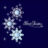 Snowflake with diamonds Stock Photo