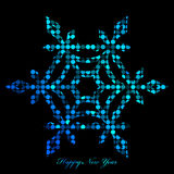 Snowflake from disco lights Stock Photos