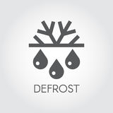 Snowflake and drop flat icon. Symbol of defrosting, air conditioning and change of seasons concept Stock Images