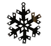 Snowflake ear ring. Ear ring in a shape of snowflake stock images