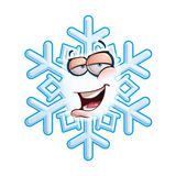 SnowFlake Emoticon - Hey Royalty Free Stock Photos