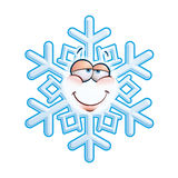 SnowFlake Emoticon - In Love Stock Photo